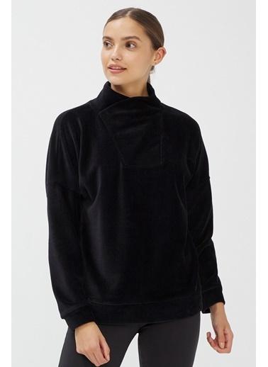 Penti Kadın Siyah Dance Velvet  Sweatshirt PHT61YMY20SK Siyah